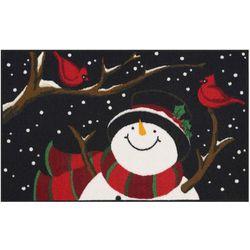 Snowman & Cardinals Accent Rug