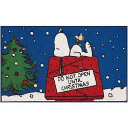 Nourison Snoopy Do Not Open Until Christmas Accent Rug