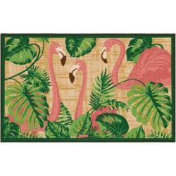 Nourison Tropical Flamingos Accent Rug