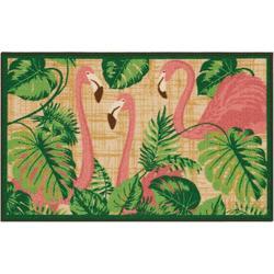 Tropical Flamingos Accent Rug