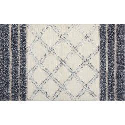 Nourison Helena Textured Stripe & Diamond Accent Rug