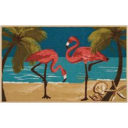 Flamingo Beach Accent Rug