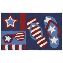 Nourison Americana Flip Flops & Sunglasses Accent Rug