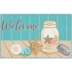 Welcome Shell Jar Accent Rug