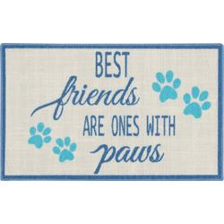 Best Friends Are Ones With Paws Accent Rug