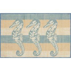 Nourison Three Seahorse & Stripe Accent Rug