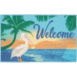 Welcome Pelican Accent Rug