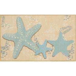 Three Starfish Accent Rug