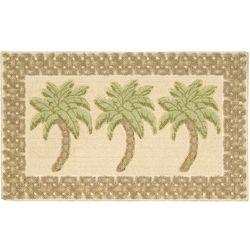 Palm Tree Beach Accent Rug