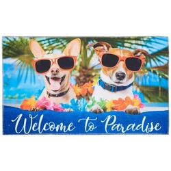 Welcome To Paradise Dogs Accent Rug