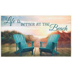 Life Is Better At The Beach Adirondack Accent Rug