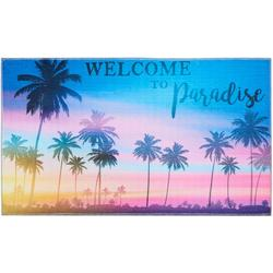 Colorful Welcome To Paradise Accent Rug