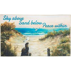 Sky Above Sand Below Peace Within Accent Rug
