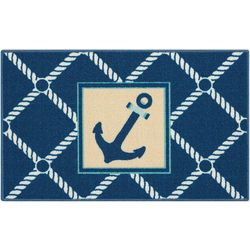 Essential Elements Anchor Diamond Accent Rug