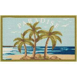 Paradise Palm Trees Accent Rug