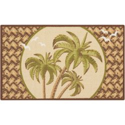 Essential Elements Triple Palm Trees Accent Rug