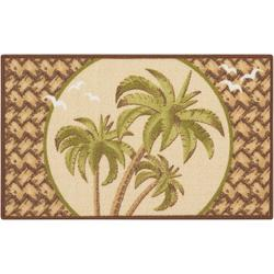 Triple Palm Trees Accent Rug