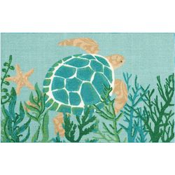 Enhance Sea Turtle Accent Rug