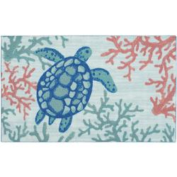 Sea Turtle Reef Accent Rug