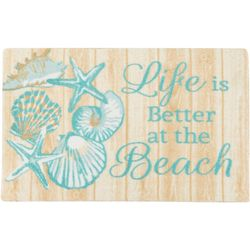 Life Is Better At The Beach Accent Rug