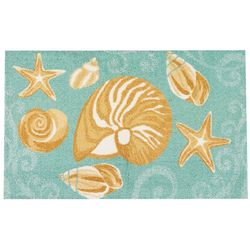 Enhance Sea Shells Accent Rug