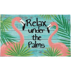 Nourison Relax Under The Palms Flamingo Accent Rug
