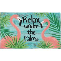 Relax Under The Palms Flamingo Accent Rug