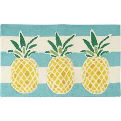 Pineapple Hand Hooked Accent Rug
