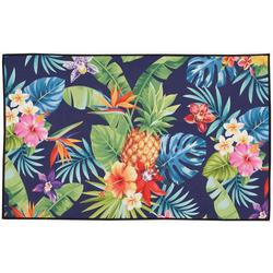 Pineapple & Hibiscus Accent Rug