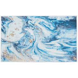 Blue Marble Accent Rug