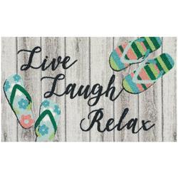 Live Laugh Relax Flip Flop Accent Rug