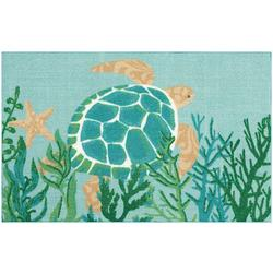 Sea Turtle & Reef Accent Rug