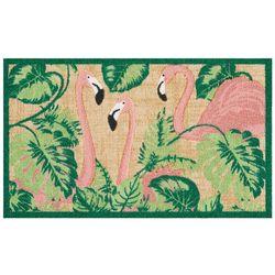 Nourison Flamingo Palm Leaf Accent Rug