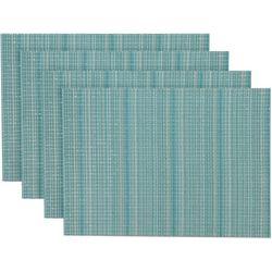 4-pc. Sparkle Woven Vinyl Placemats Set