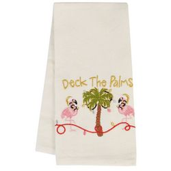 Holiday & Pet Deck The Palms Flour Sack Kitchen Towel