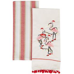 Holiday & Pet 2-pc. Flamingo Flour Sack Kitchen Towel