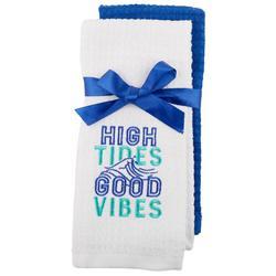 2-pc. High Tides Good Vibes Kitchen Towel Set