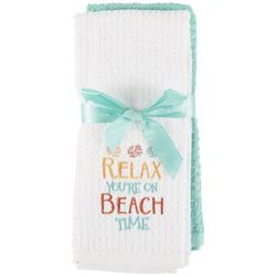Lintex 2-pc. Relax You're On Beach Time Kitchen Towel Set