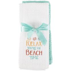 2-pc. Relax You're On Beach Time Kitchen Towel Set