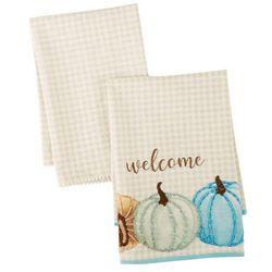 Admaira Home Decor 2-pk. Welcome Pumpkin Kitchen Towel Set