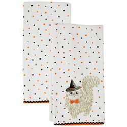 Admaira Home Decor 2-pk. Polka Dot Cat Kitchen Towel Set