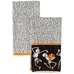 Admaira Home Decor 2-pk. Dancing Skeletons Kitchen Towel Set