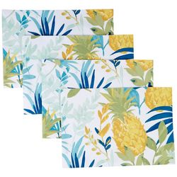 Homewear 4-pc. Pineapple Palms Placemat Set