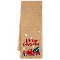 Merry Christmas Truck Table Runner