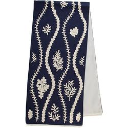 Embroidered Sea Vines Table Runner