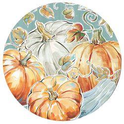 Counter Art Pumpkin Patch Round Reversible Placemat