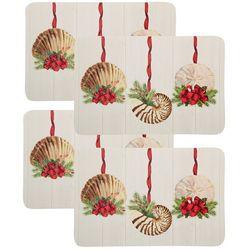 Counter Art 4-pk. Christmas Starfish Reversible Placemat Set