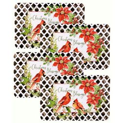 Counter Art 4-pk. Cardinal Reversible Placemat Set