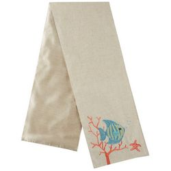 Lintex Embroidered Fish & Coral Table Runner