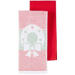 Lintex 2-pc. Wreath Jacquard Kitchen Towel Set